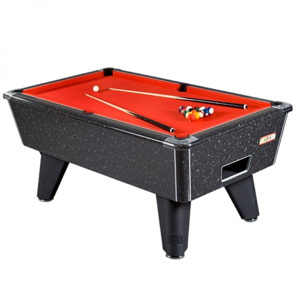 Supreme Winner Pool Table Black Marble High Gloss