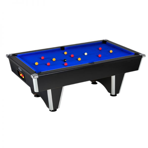elite pool table black.