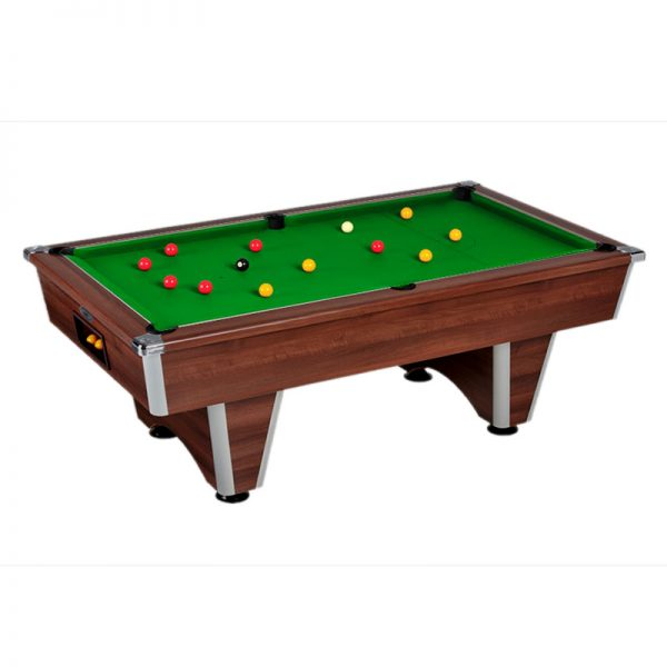 elite pool table dark wallnut