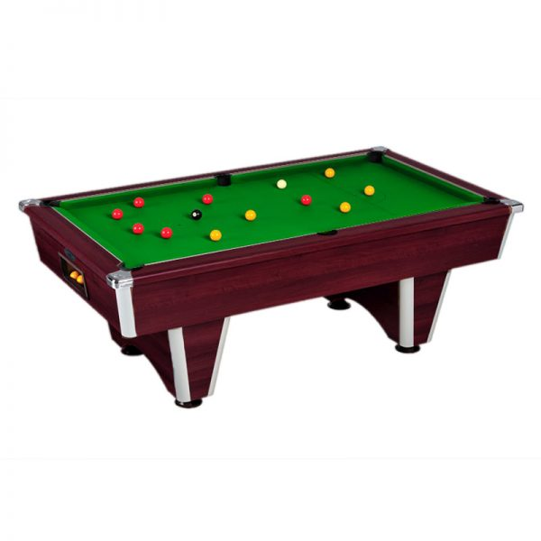 elite pool table mahogany