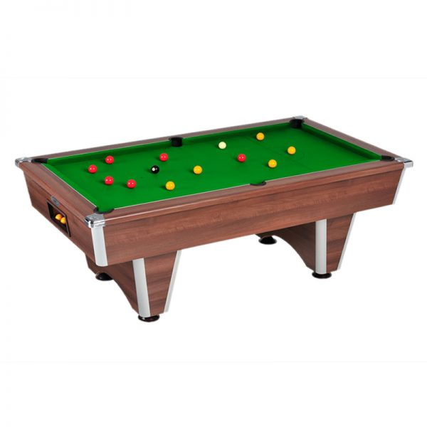 elite pool table wallnut