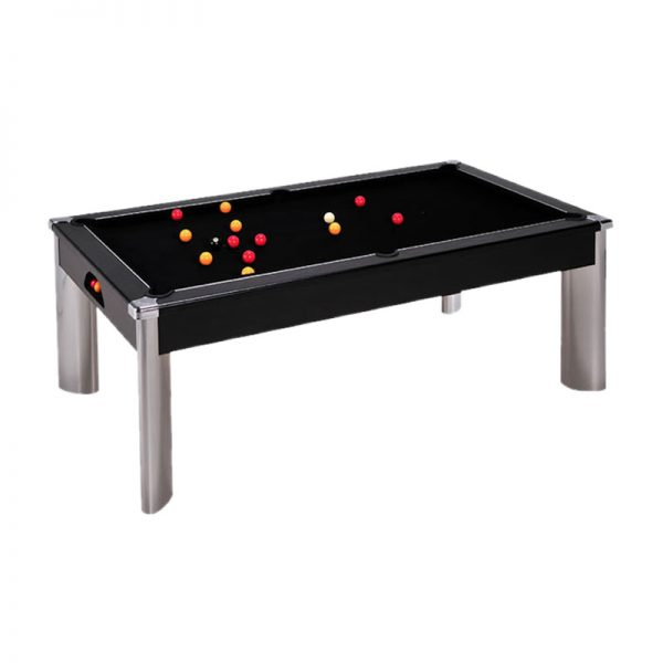 fusion pool table black