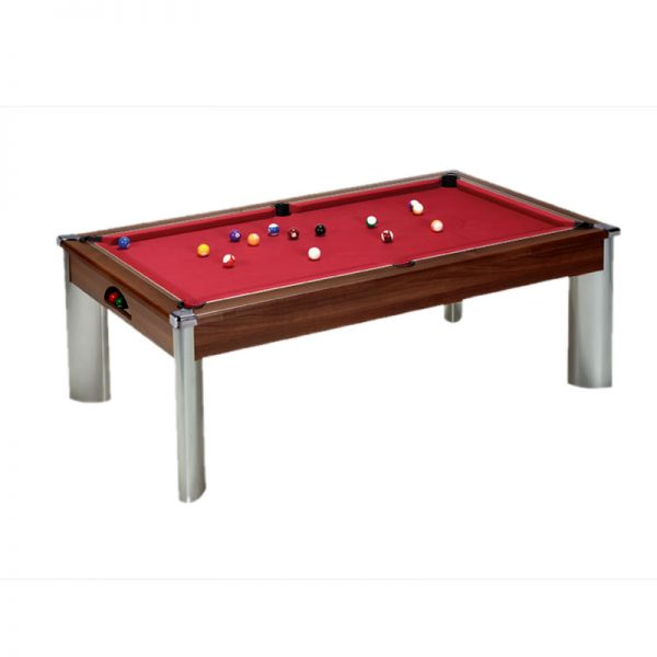 fusion pool table dark walnut
