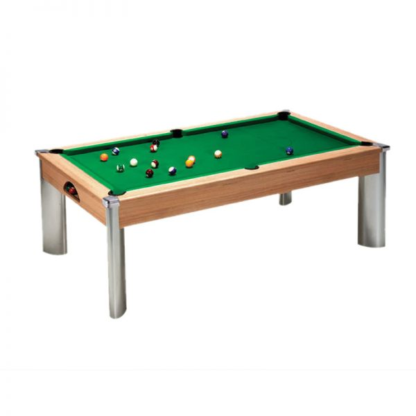 fusion pool table oak