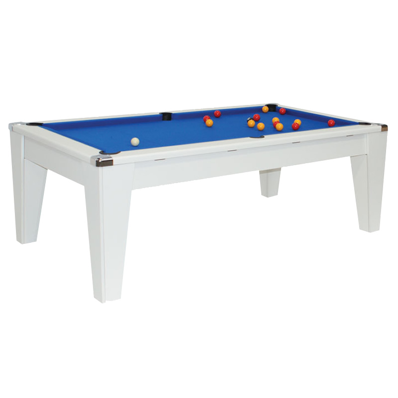 White dpt avante dining pool table amazon leisure - Pool dining ...